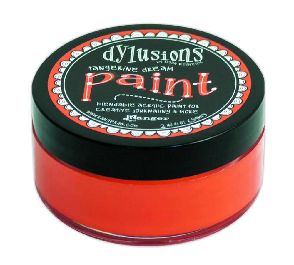 Ranger Dyan Reaveley''s Dylusions Paint 2oz - Tangerine Dream