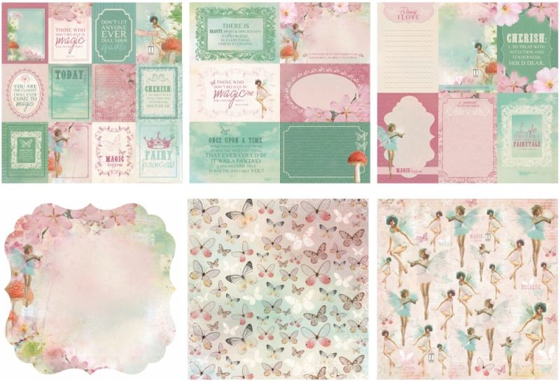 KaiserCraft Enchanted Garden 12x12 Specialty Paper Pack