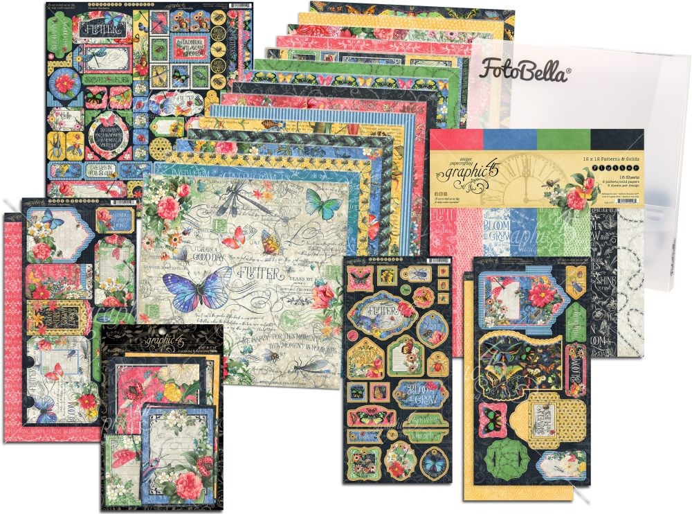 Graphic 45 Flutter 12x12 I Want It All Bundle (does not include 8x8)