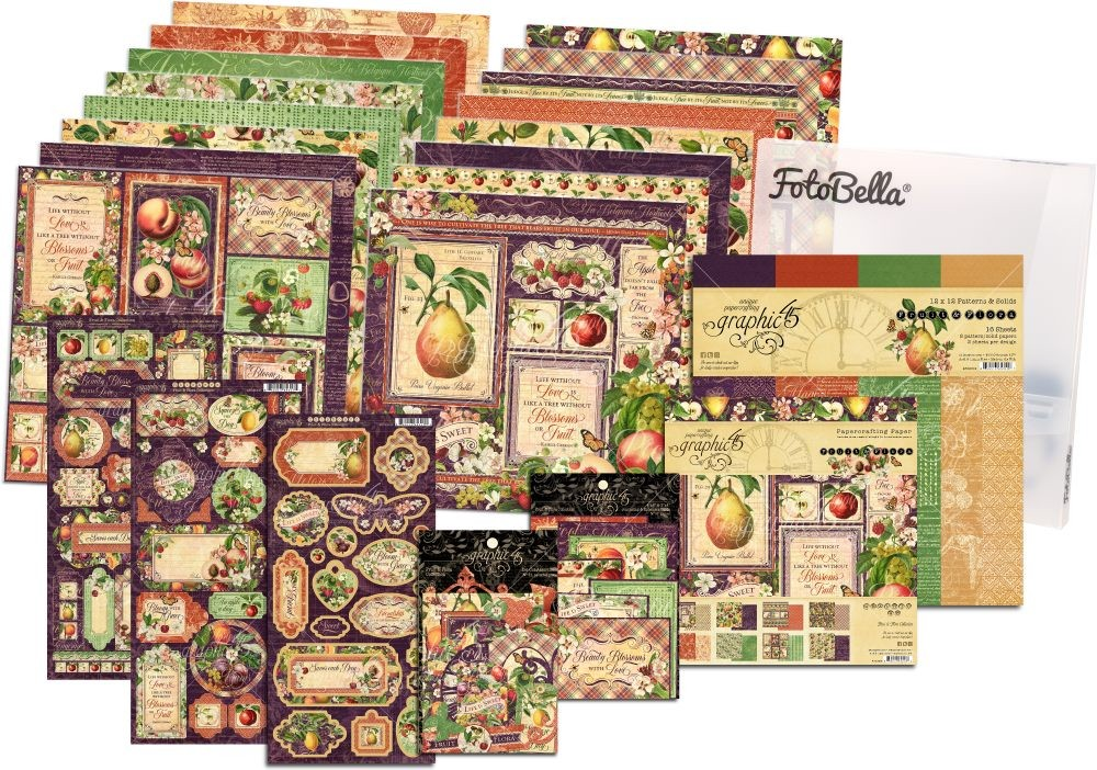 Graphic 45 Fruit & Flora 12x12 & 8x8 I REALLY Want It All Bundle