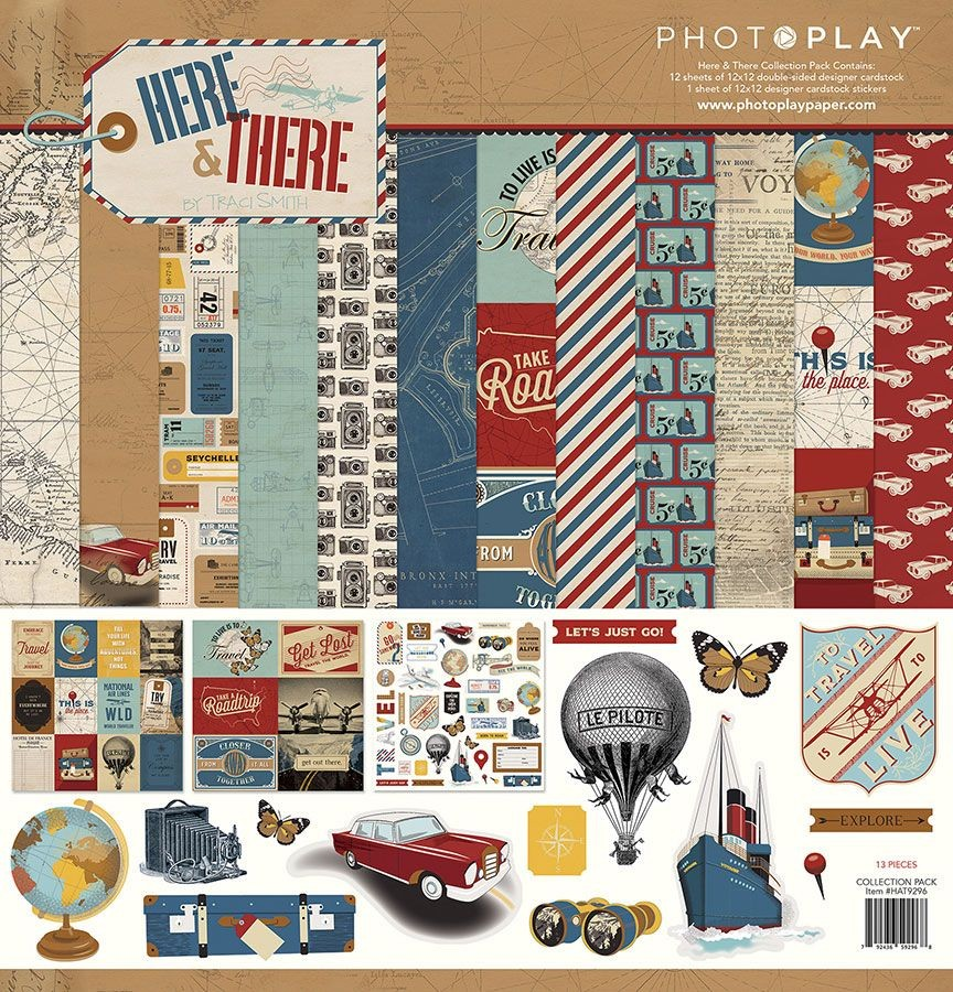 PhotoPlay Here & There 12x12 Collection Pack