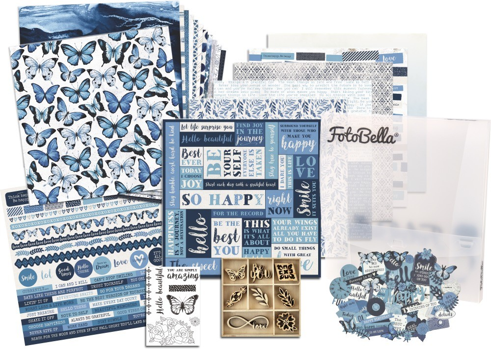 KaiserCraft Indigo Skies Scrapbooking Bundle