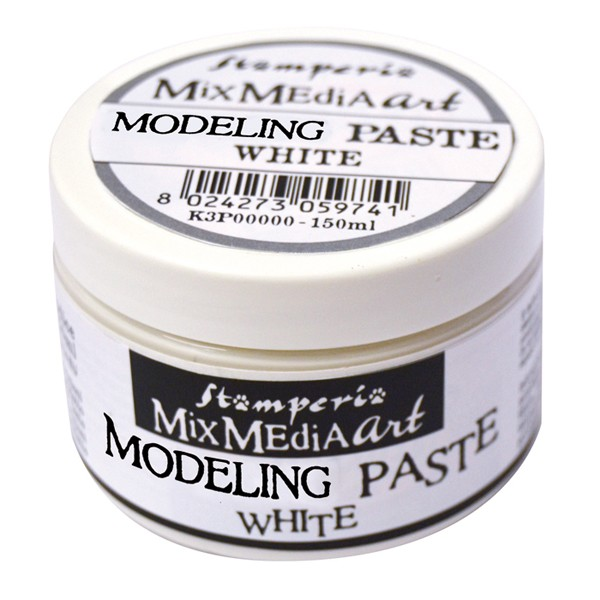 Stamperia White Modelling Paste 150 ml.