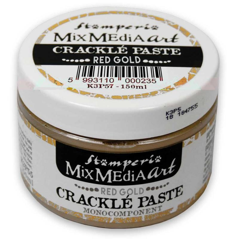 Stamperia Red-Gold Crackle Paste monocomponent 150 ml.