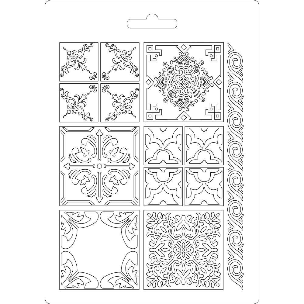 Stamperia Soft Mould A5 size Azulejos