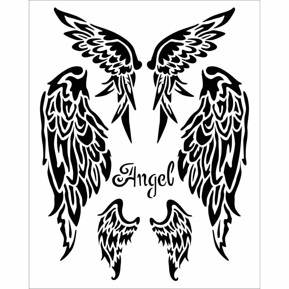 Stamperia Thick stencil 20x25 cm Wings