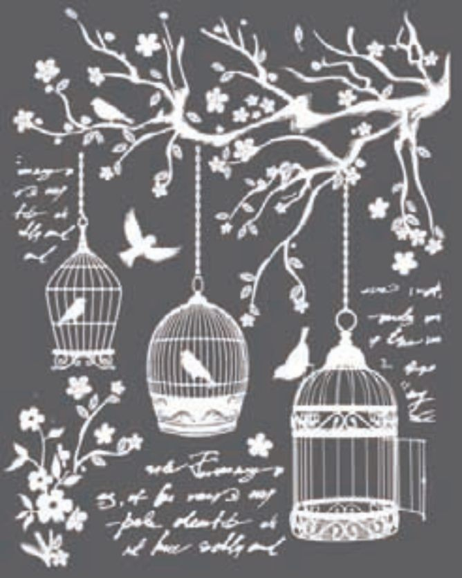 Stamperia Thick stencil 20x25 cm - Little cages