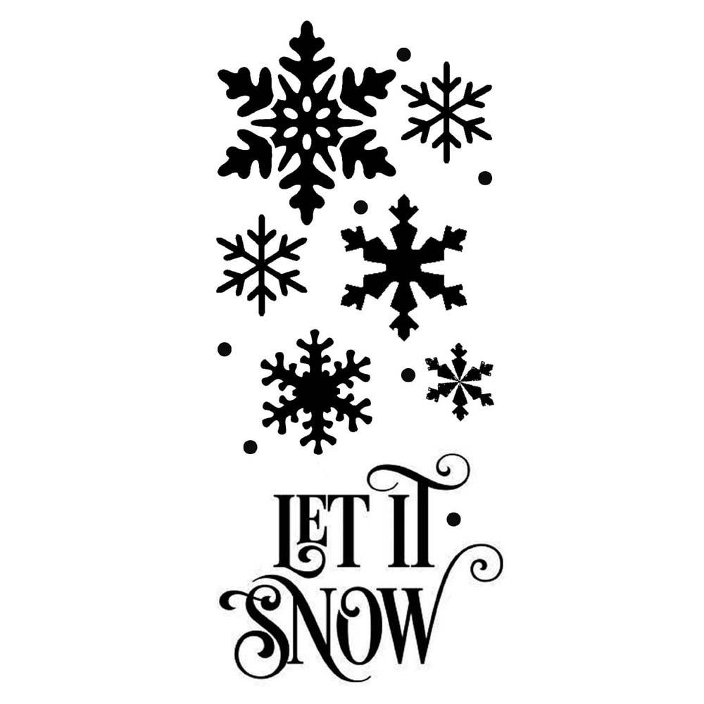 Stamperia Thick stencil 12x25 cm Let it snow