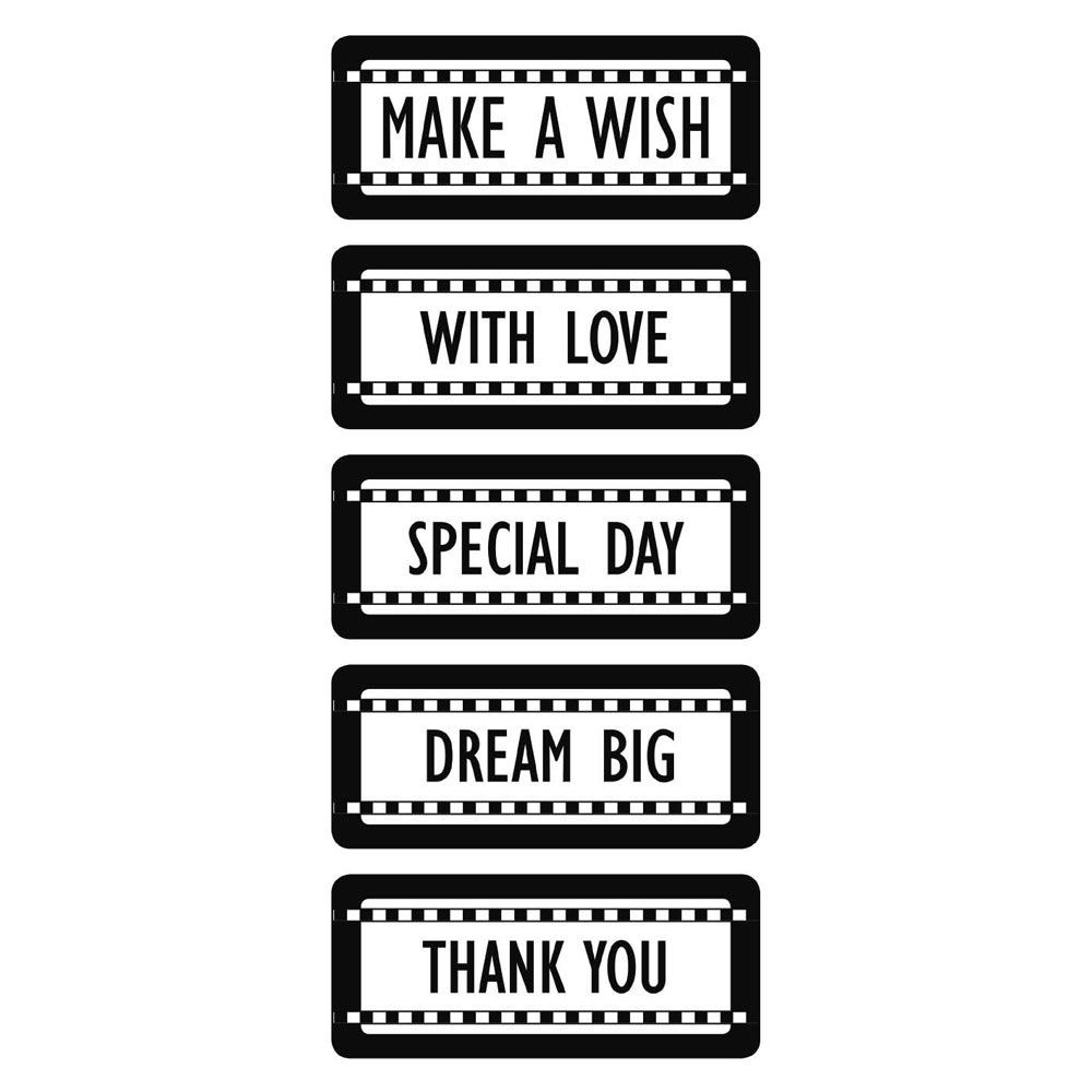 Stamperia Thick stencil 12x25 cm Tags