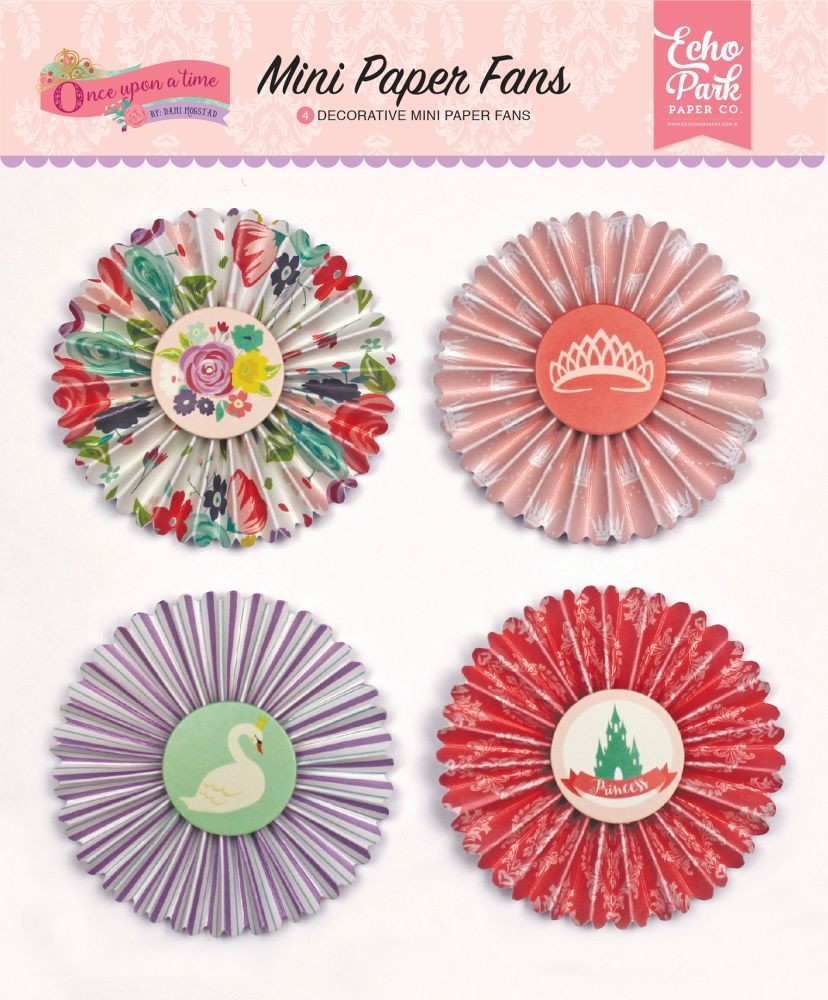 Echo Park Once Upon A Time-Princess Mini Paper Fans