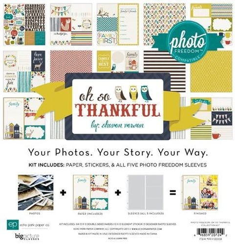 "Echo Park Photo Freedom So Thankful Collection Kit 12""X12"""