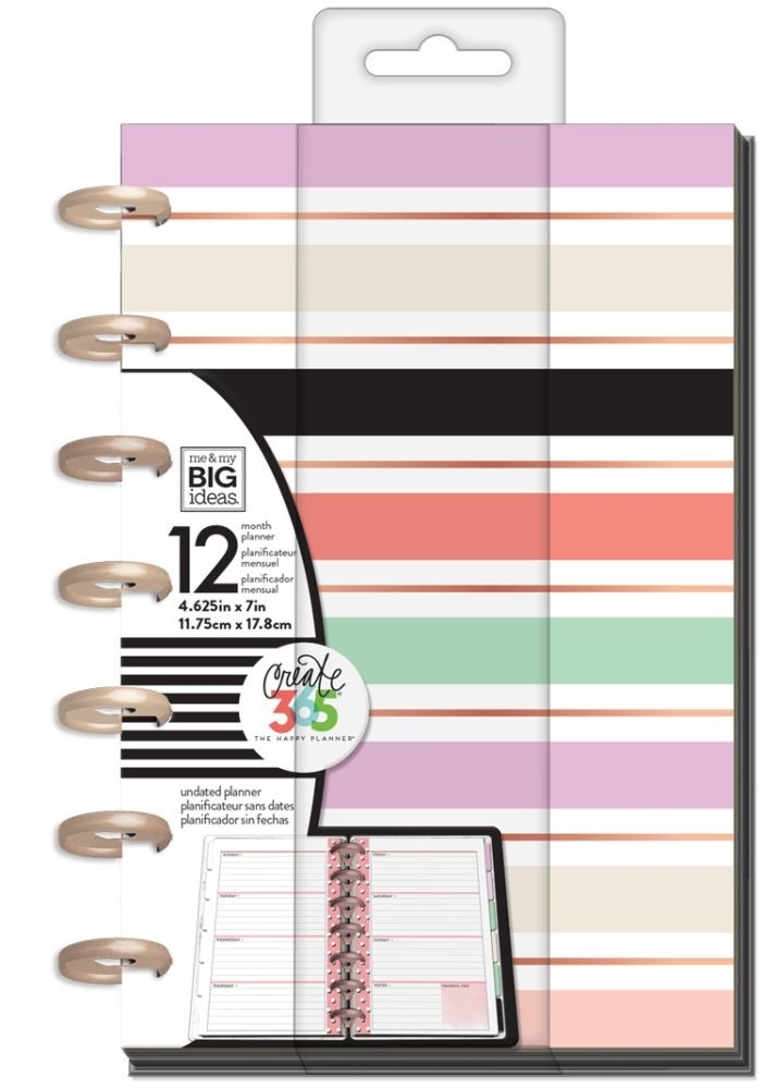Me & My Big Ideas Create 365 The Happy Planner - Mini Lovely Pastels - Undated Mini Planner