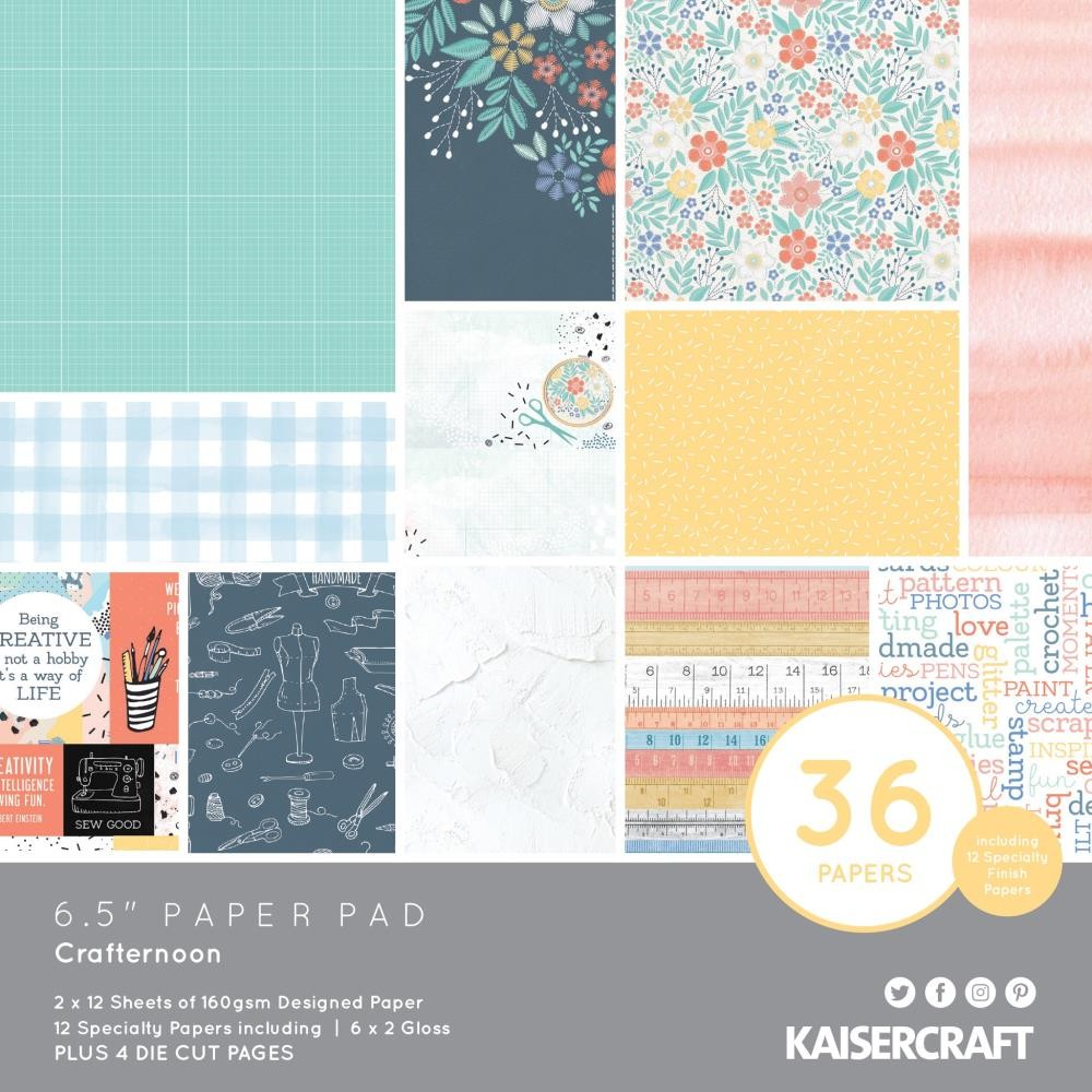 "KaiserCraft Crafternoon  6.5""X6.5"" paper pad (40 pages)"