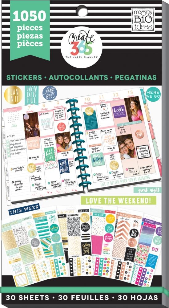 Me & My Big Ideas Create 365 The Happy Planner Sticker Value Pack - This Colorful Life