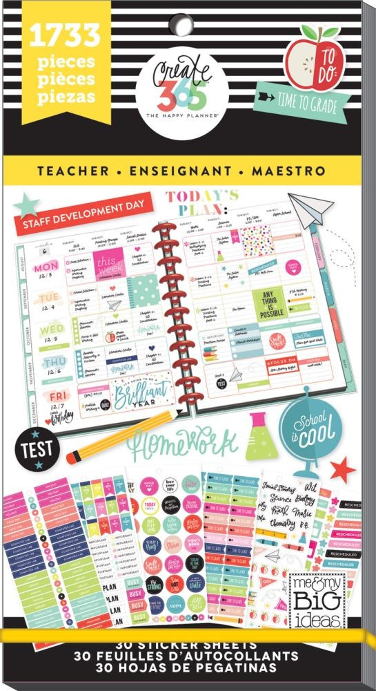 Me & My Big Ideas Create 365 The Happy Planner Sticker Value Pack - Big Teacher