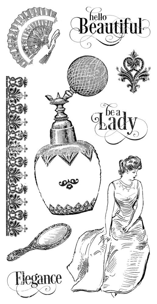 Graphic 45 Portrait of a Lady Cling Stamp 2