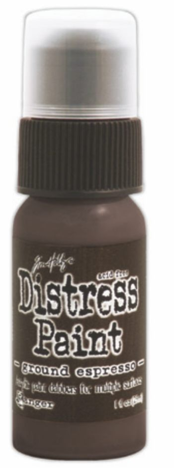 Ground Espresso Distress Paint by Ranger - Tim Holtz Distress Ink August Color Of The Month