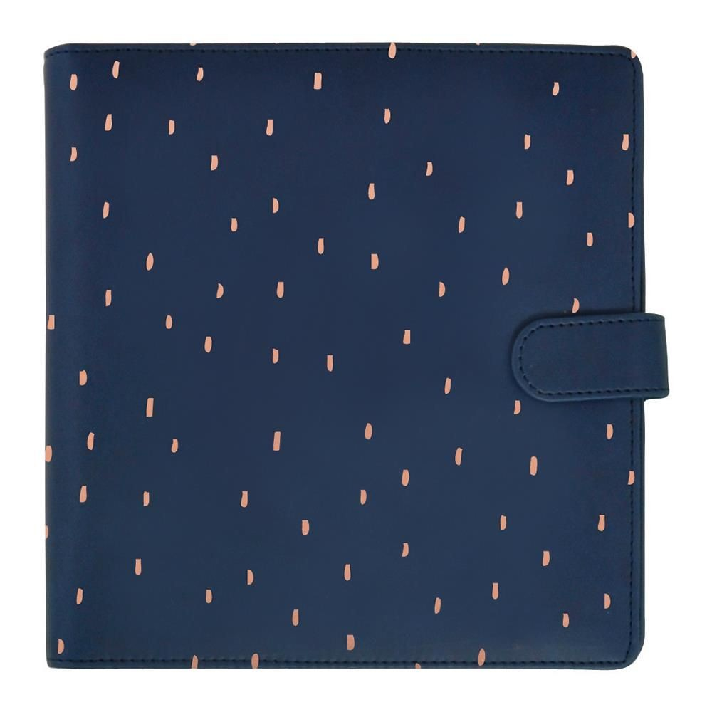 "KaiserCraft Journal Planner 9""X9"" - Navy with Rose Gold"