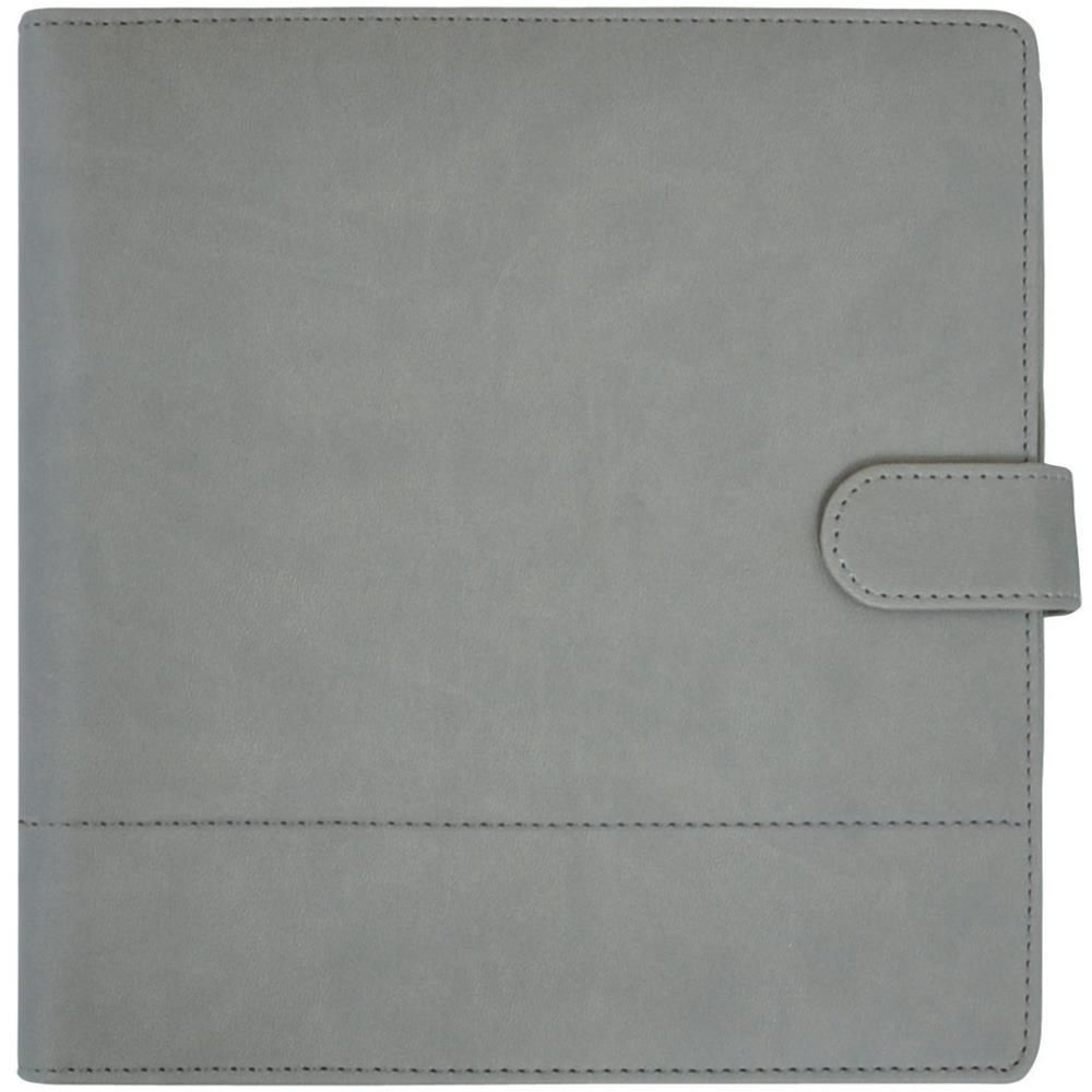 "KaiserCraft Journal Planner 9""X9"" - Grey with Stitched Accents"