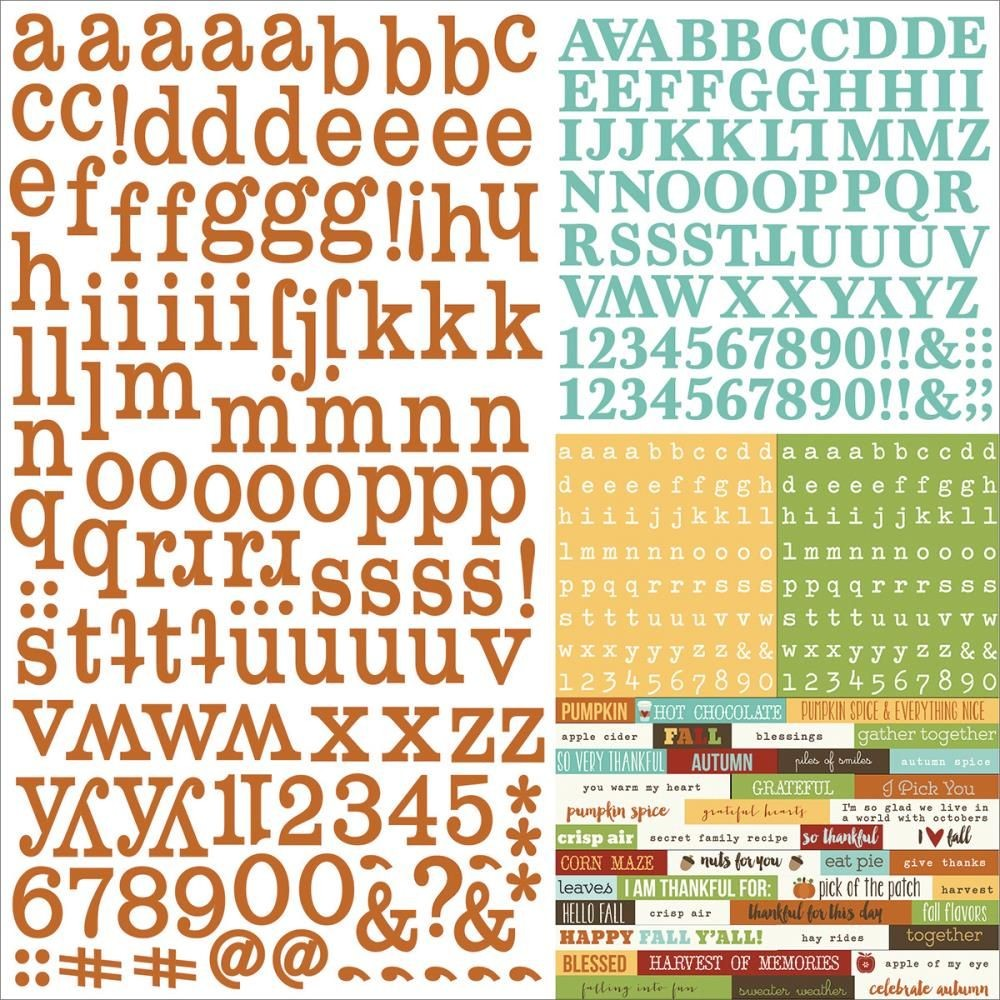 Simple Stories Pumpkin Spice Expressions Cardstock Stickers
