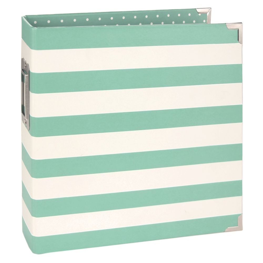 Simple Stories SN@P! Egg 6x8 Designer Binder - Robins Egg Stripe