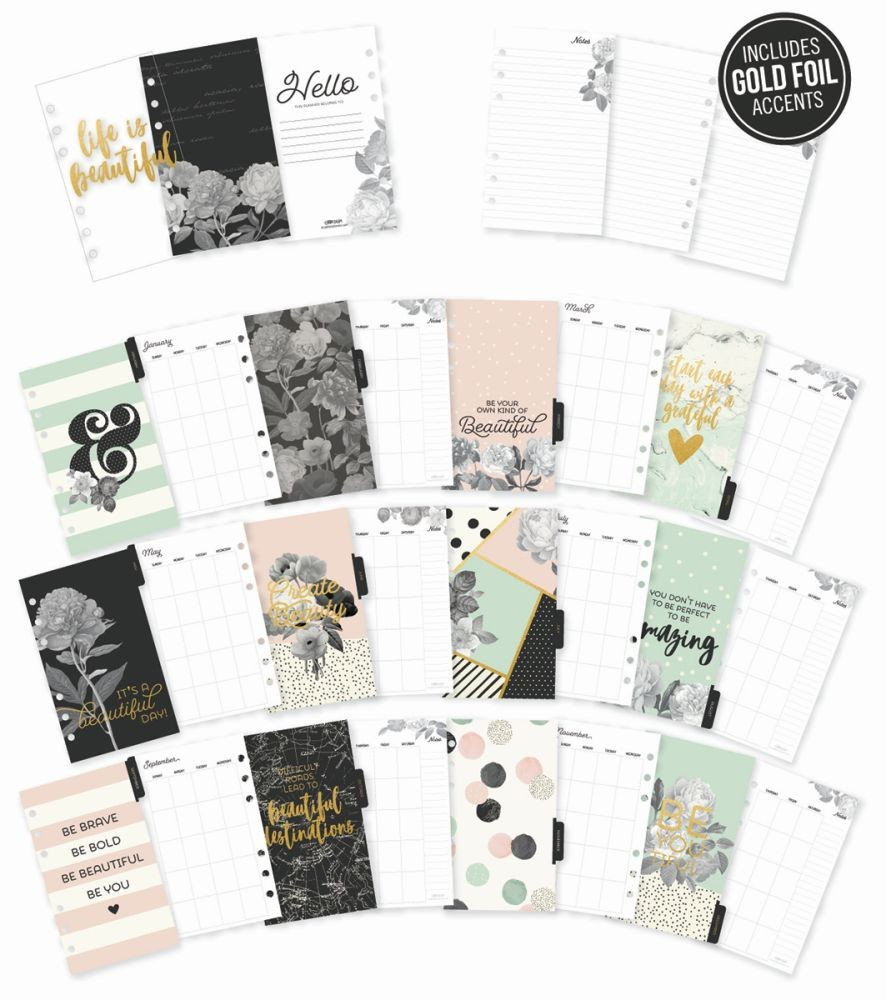 Simple Stories Carpe Diem - Beautiful Personal Monthly Planner Inserts