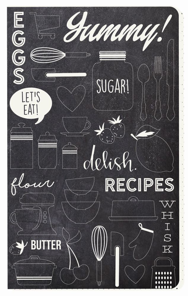 Simple Stories Carpe Diem - Recipe Delish Doc-It Journal