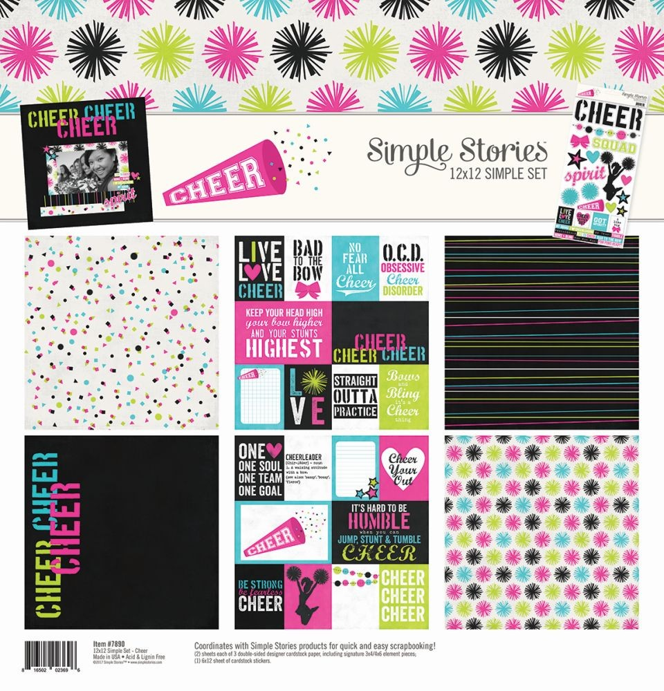 Simple Stories Cheer Simple Set 12x12 Collection Kit