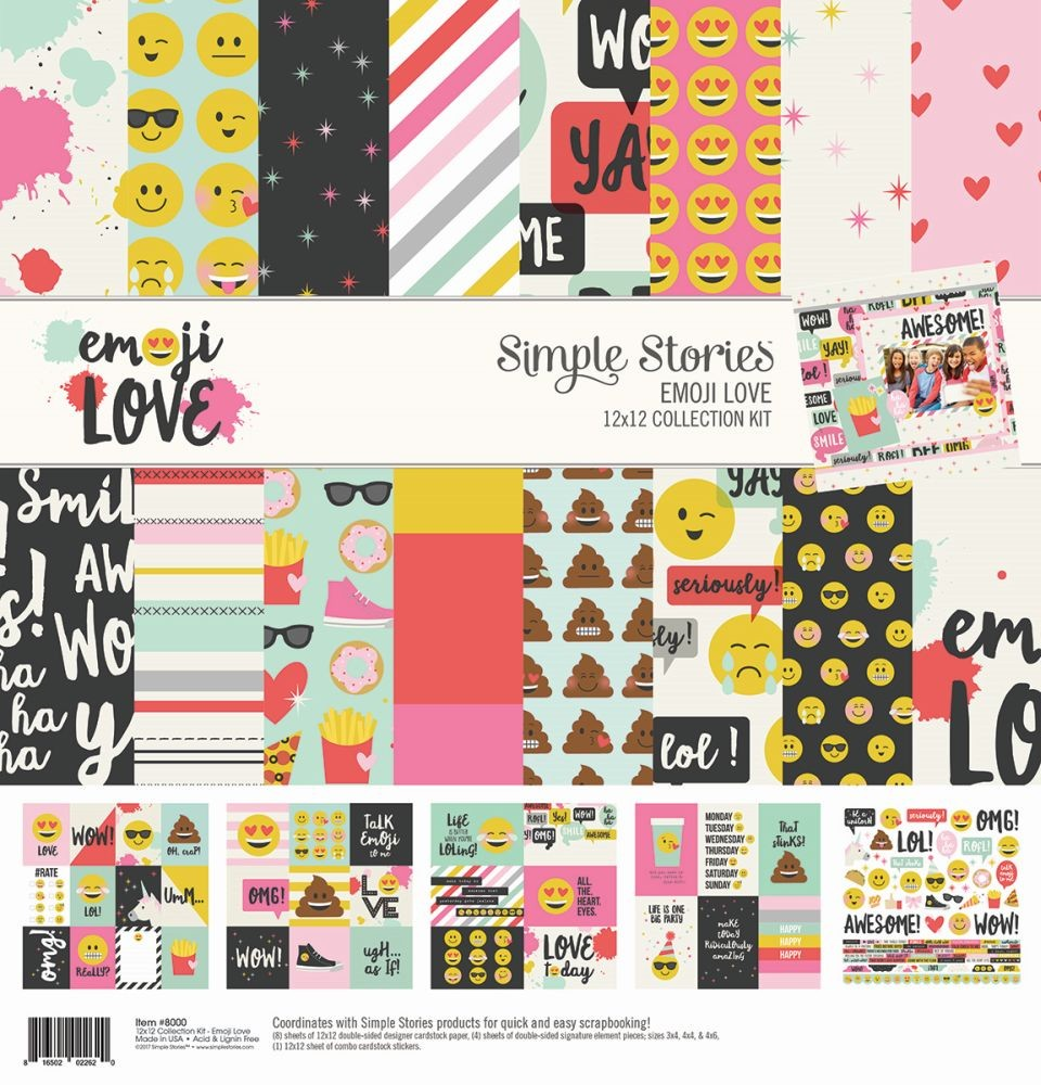 Simple Stories Emoji Love 12x12 Collection Kit