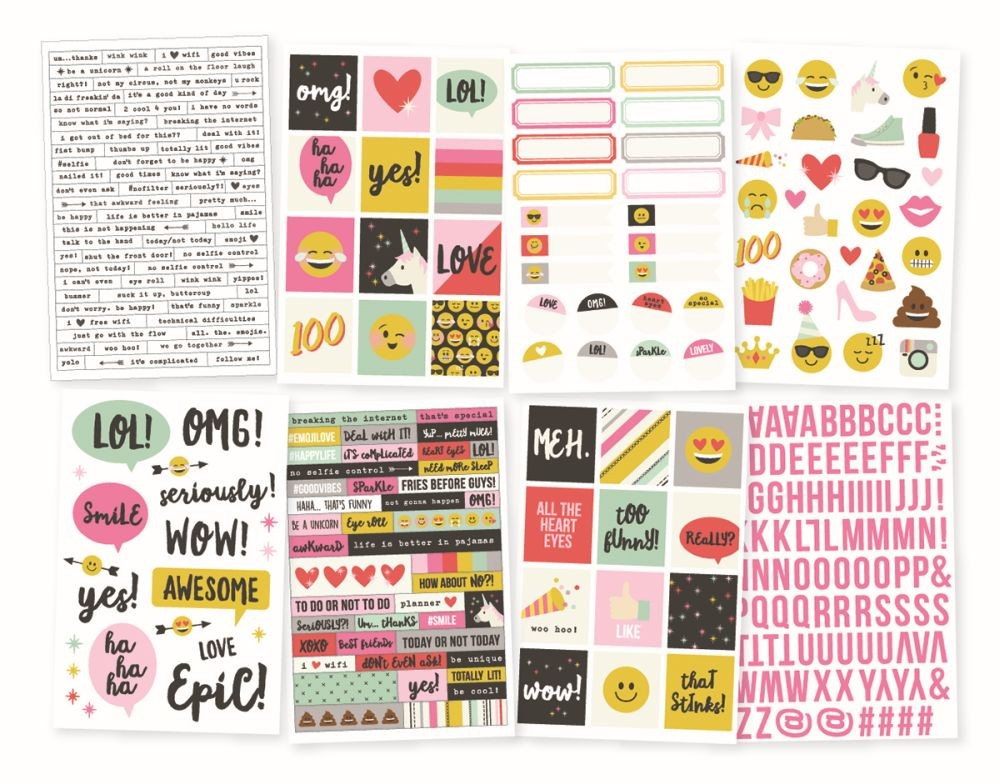 Simple Stories Emoji Love 4x6 Stickers
