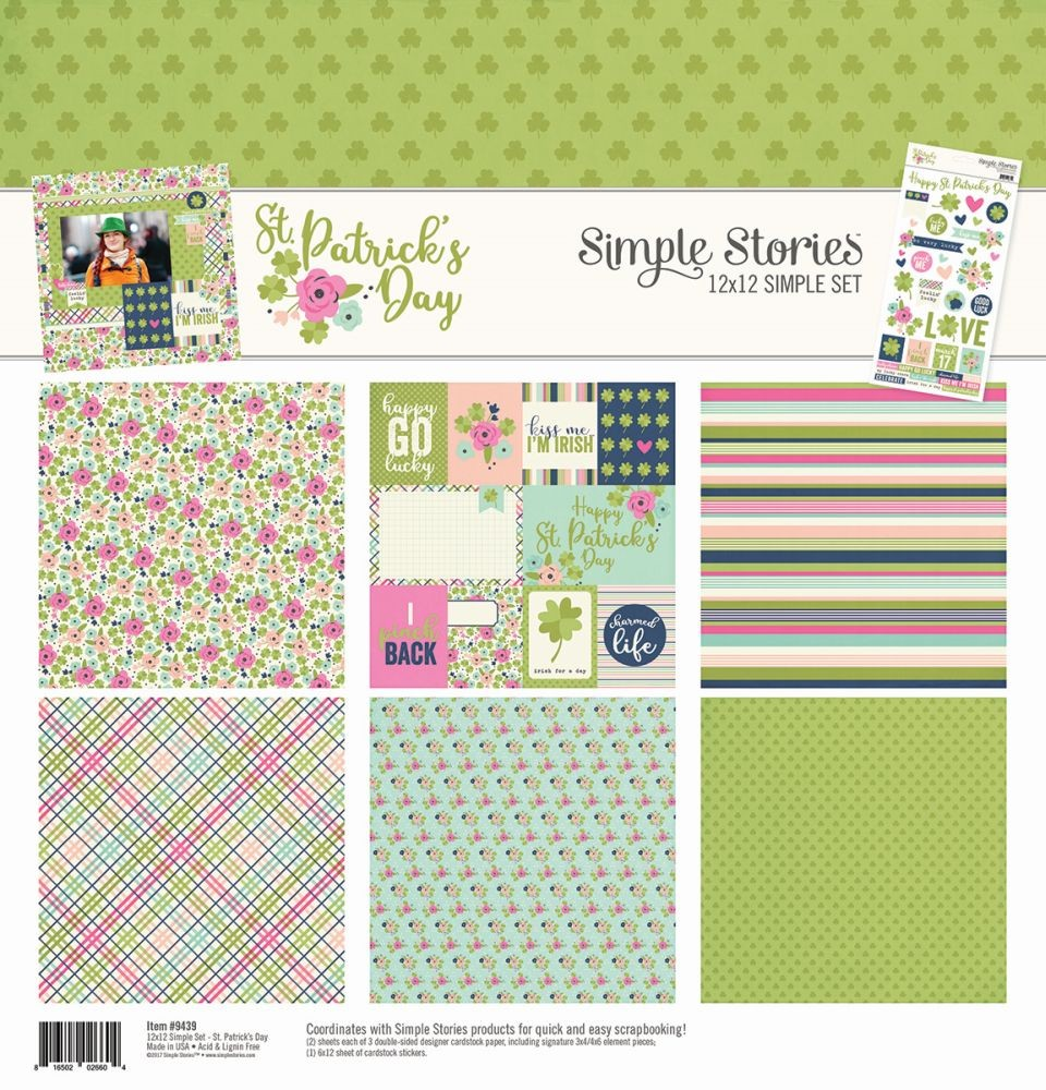 Simple Stories St. Patrick's Day Simple Sets 12x12 Collection Kit