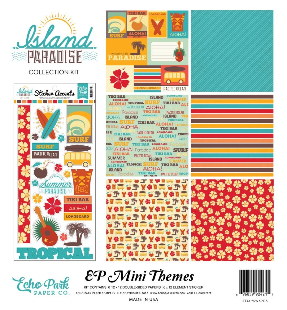 island paradise collection kit by echo park for scrapbooks cards crafting. Black Bedroom Furniture Sets. Home Design Ideas