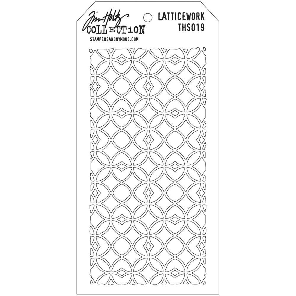 Stamper Anonymous Lattice Work  Stencil - Layering Stencil