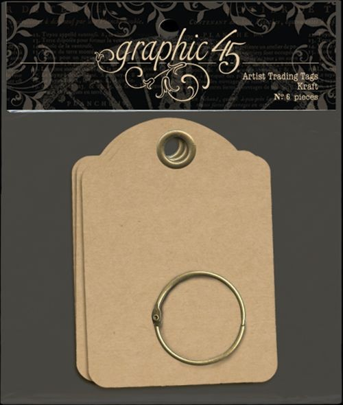 Graphic 45 Artist Trading Tags–Kraft