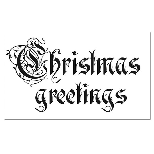 Stamperia HD Natural Rubber Stamp cm. 7x11 - Christmas Greetings