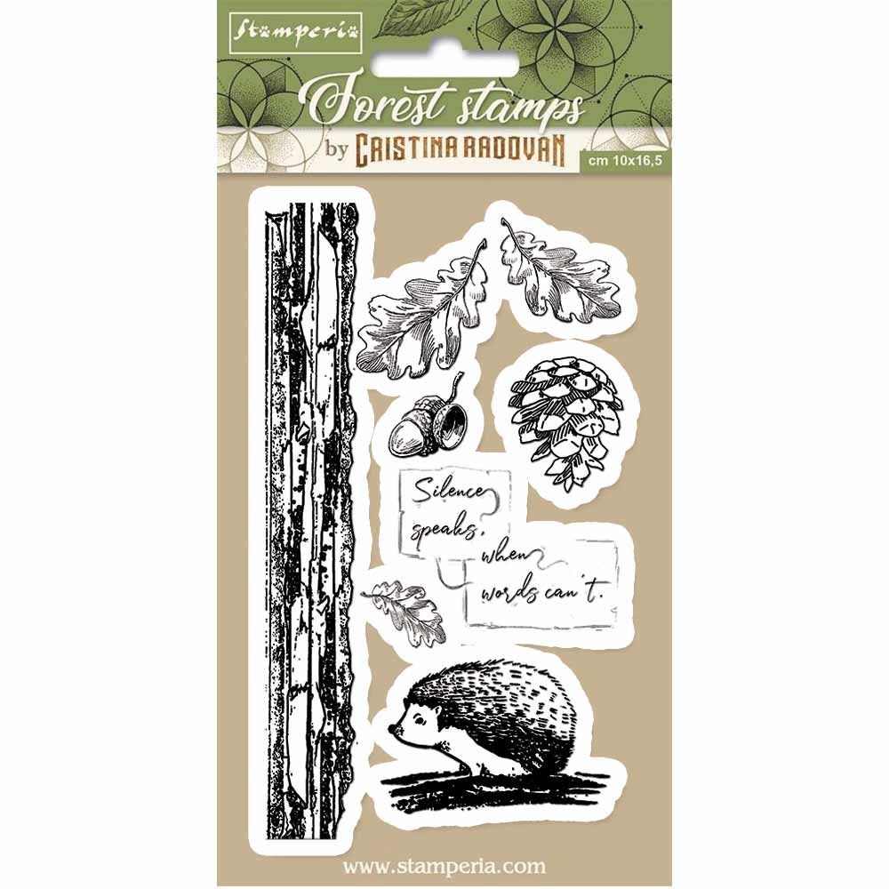 Stamperia HD Natural Rubber Stamp cm.10x16,5 Hedgehog