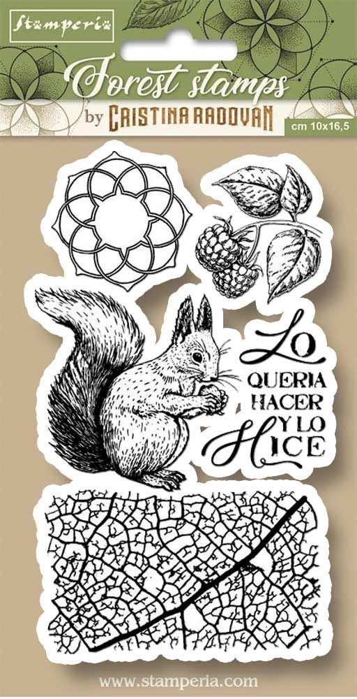 Stamperia HD Natural Rubber Stamp cm.10x16,5 Squirrel