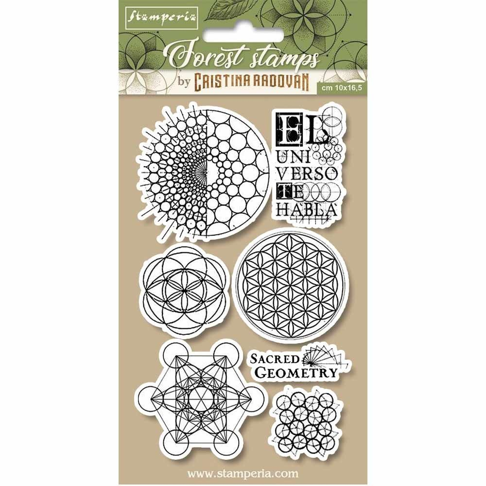 Stamperia HD Natural Rubber Stamp cm.10x16,5 Sacred geometry