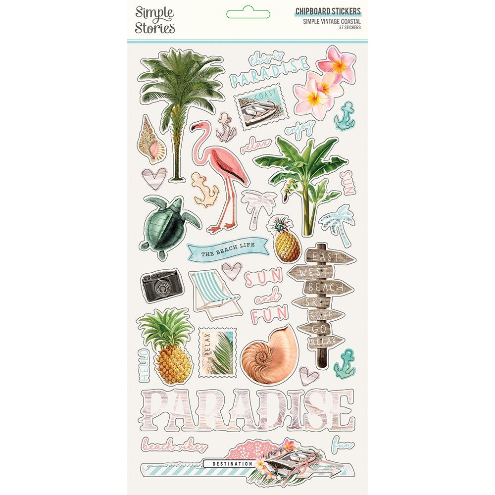 Simple Stories Simple Vintage Coastal 6x12 Chipboard