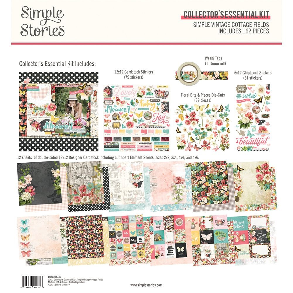Simple Stories Simple Vintage Cottage Fields - Collector''s 12x12 Essential Kit