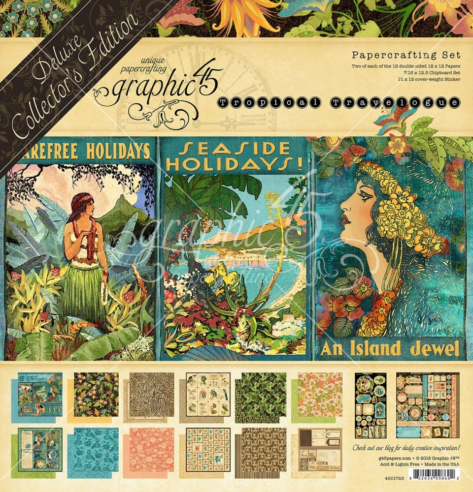 Graphic 45 Tropical Travelogue Deluxe Collectors Edition