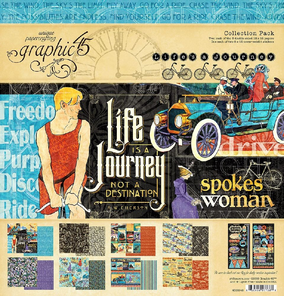 Graphic 45 Life''s a Journey Collection Pack