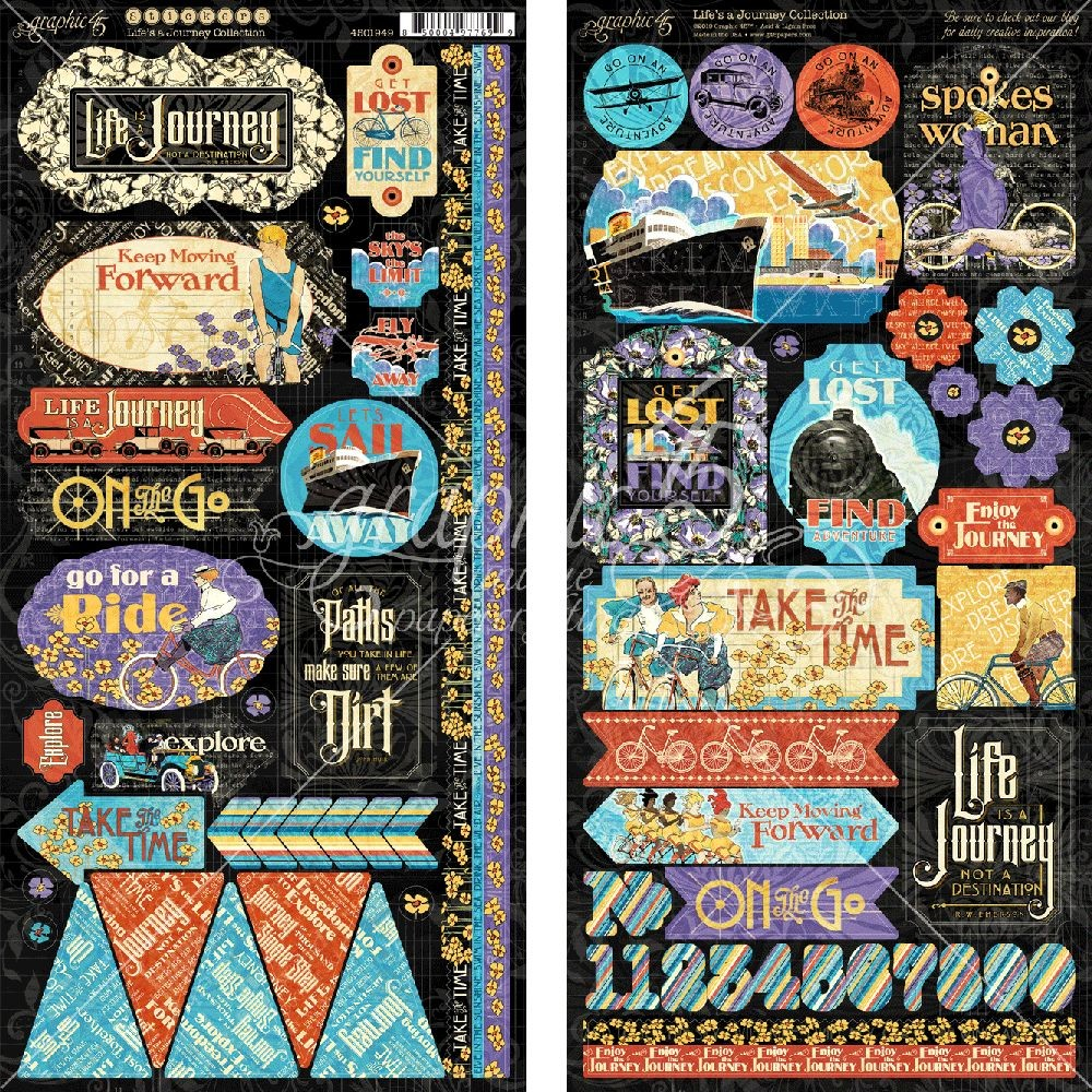 Graphic 45 Life''s a Journey Stickers