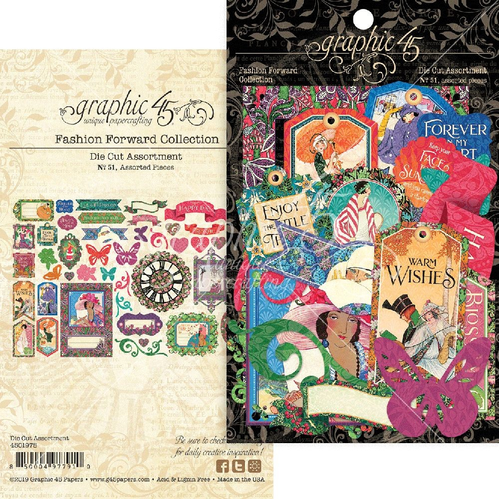 Graphic 45 Fashion Forward Die-cut Assortment