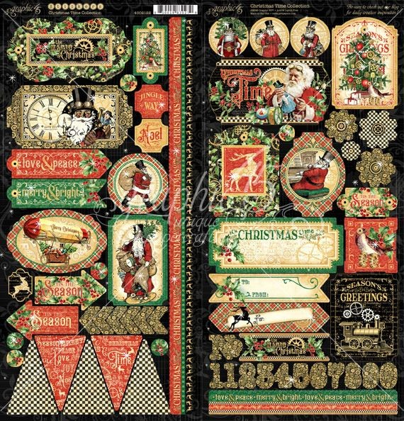Graphic 45 Christmas Time Stickers