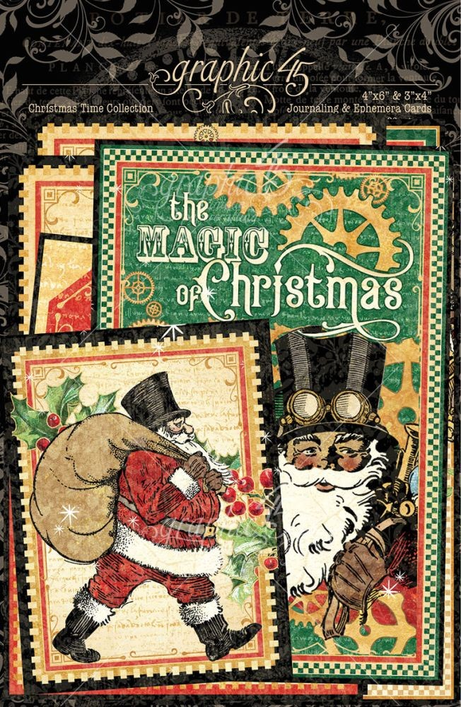 Graphic 45 Christmas Time Ephemera & Journaling Cards