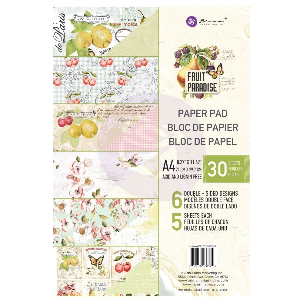 Prima Marketing Fruit Paradise A4 Paper Pad