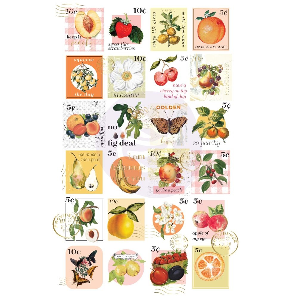 Prima Marketing Fruit Paradise Postage Stamps Stickers