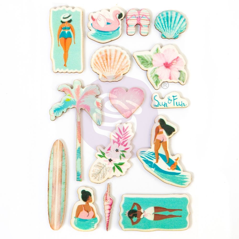 Prima Marketing Surfboard Collection Wood Stickers