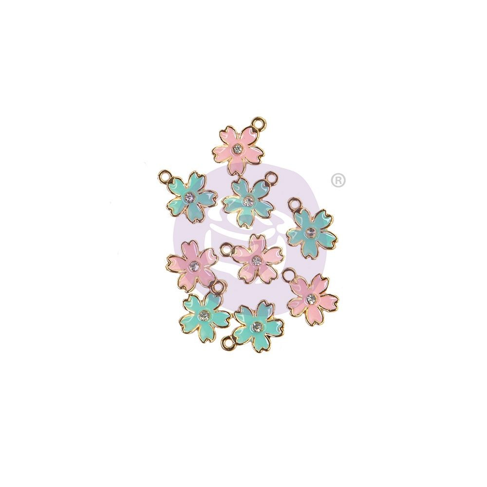 Prima Marketing Sugar Cookie Christmas Collection Enamel Charms - Flower